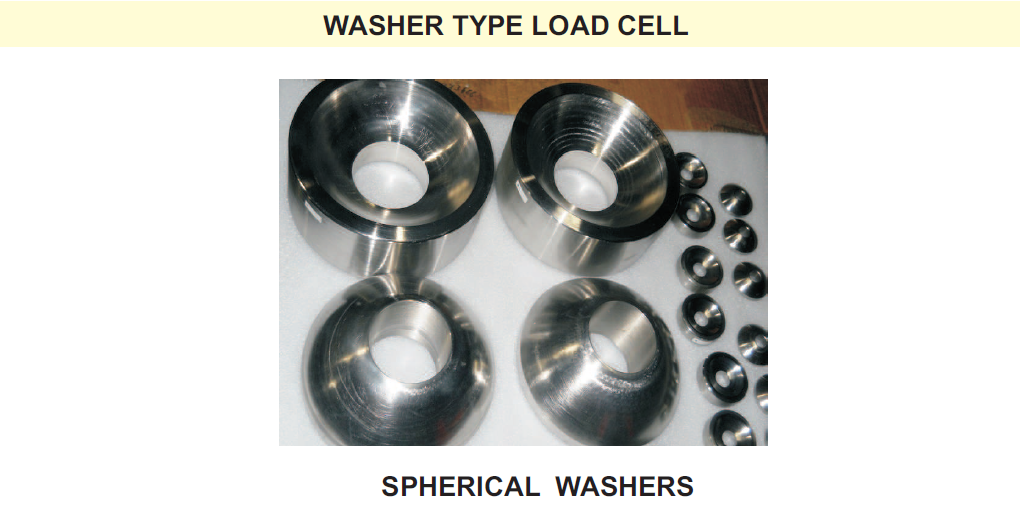 Washer type load cell sperical washers