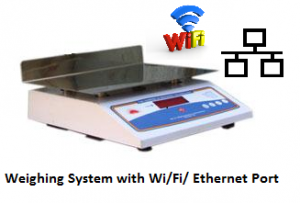 Weighing systems with Wifi ethernet connectivity